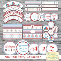 PRINTABLE Nautical Party Collection