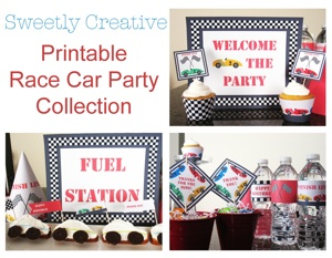 Race Car Pinewood Derby Printable Party Collection