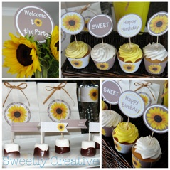 Printable Sunflower Party Supplies
